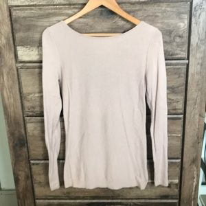 Light Pink Trouve open back sweater